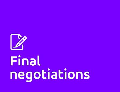 Final negotiations logo